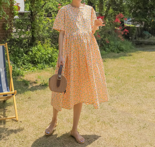 soim-[임부복*베이비돌플로럴 임산부원피스]♡韓國孕婦裝連身裙