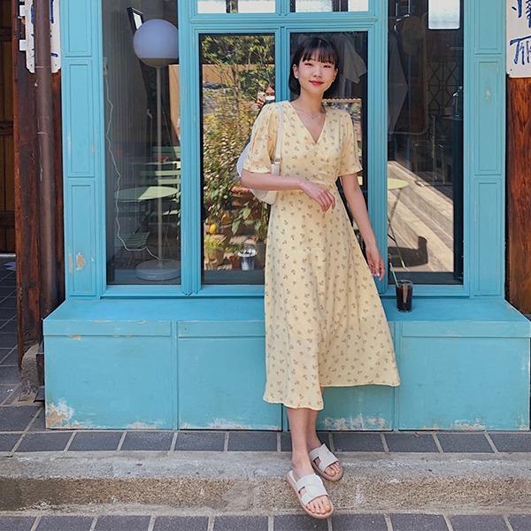 906studio-에필로그 플라워롱원피스♡韓國女裝連身裙