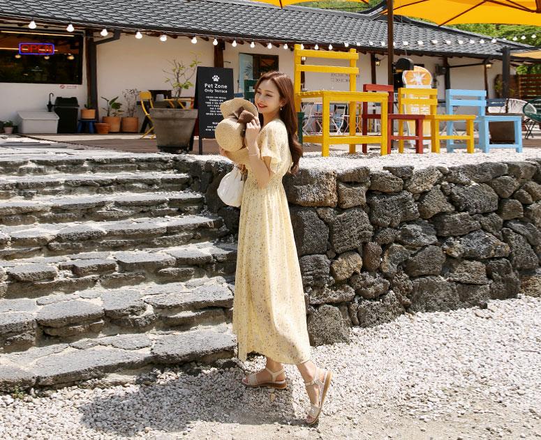 happy10-[*텐데이 신상10%할인*임부복*살랑이는꽃 원피스]♡韓國孕婦裝連身裙