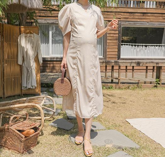 soim-[임부복*데이지퍼프 임산부원피스]♡韓國孕婦裝連身裙
