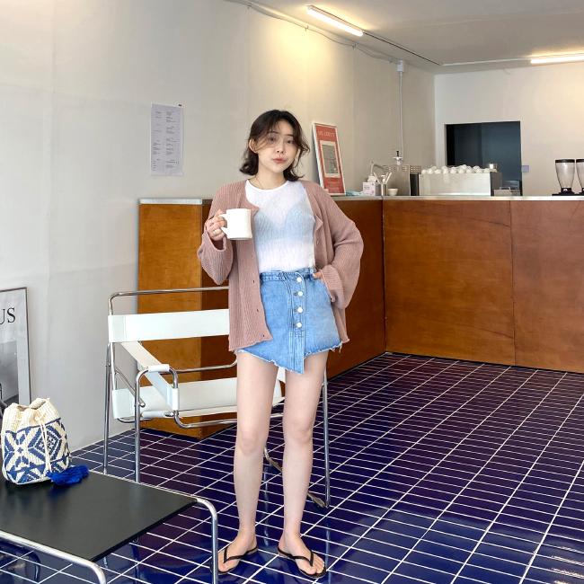 candyglow-[릴리 치마팬츠]♡韓國女裝褲