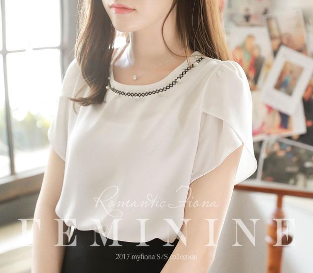 myfiona-라일의진주 블라우스 m4895 - 러블리 로맨틱 1위 쇼핑몰 피오나♡韓國女裝上衣