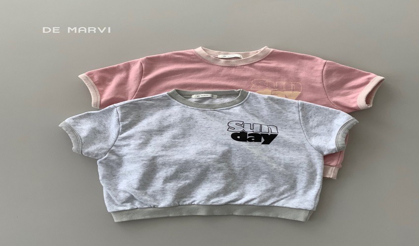 lovely2min-마르비 썬데이맨투맨(XS~JXL) - lovely2min♡韓國童裝上衣