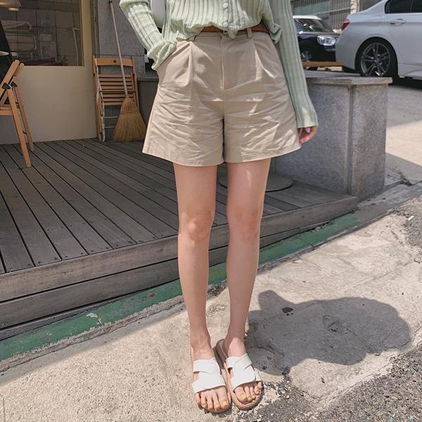 906studio-스테이 3부벨트팬츠♡韓國女裝褲