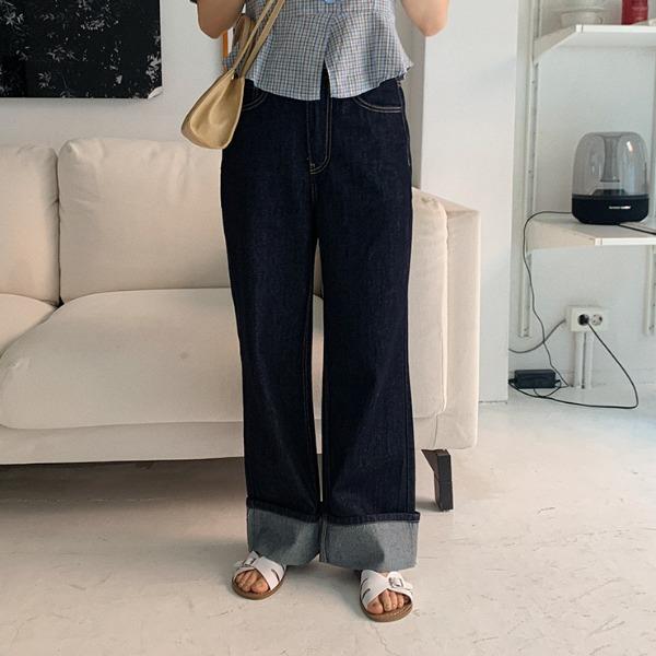 heylady-셉터 생지 데님팬츠♡韓國女裝褲