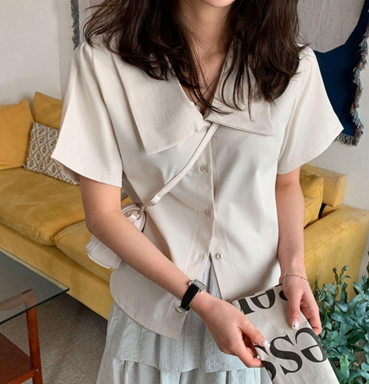 merongshop-[무료배송] 오드리 카라 블라우스 - 4 color♡韓國女裝上衣