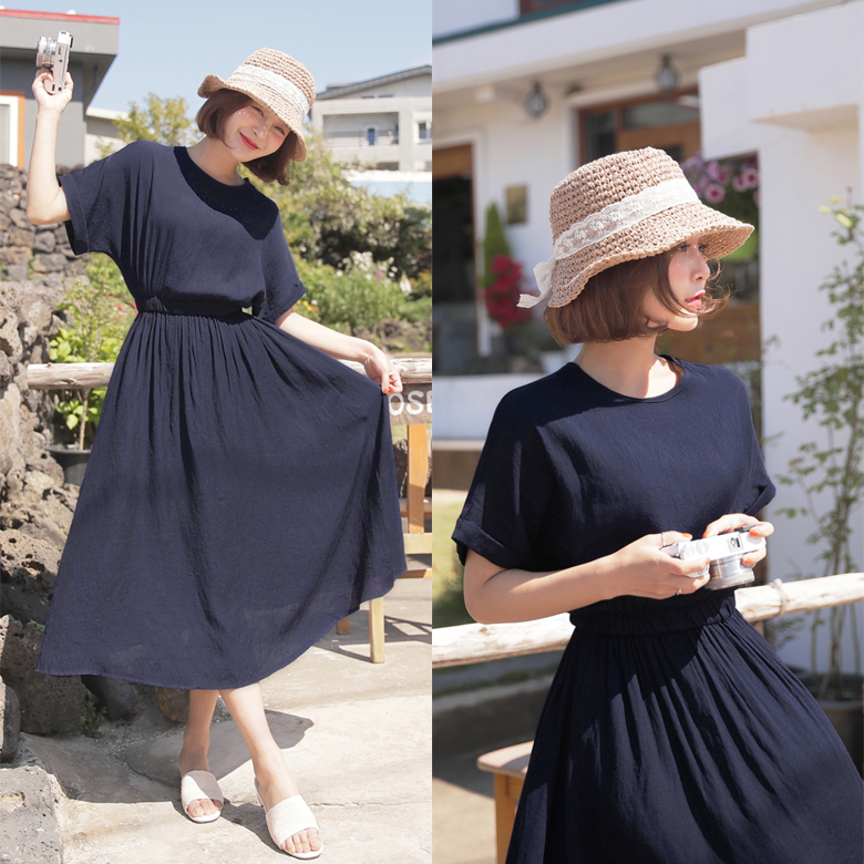 midasb-[티렌 데일리 롱 원피스 [전체밴딩]]♡韓國女裝連身裙