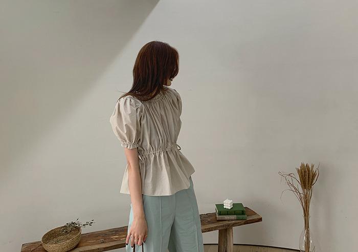 prostj-엘런 퍼프 블라우스 (2colors)♡韓國女裝上衣