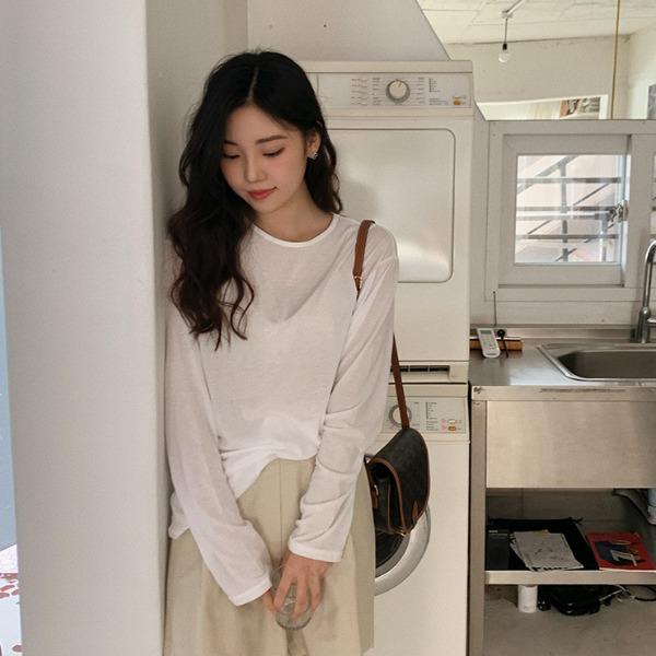 heylady-페릿 텐셀 긴팔티♡韓國女裝上衣
