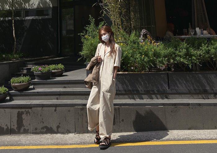 prostj-[lucky days][made prostj] 주노 코튼 점프수트♡韓國女裝褲