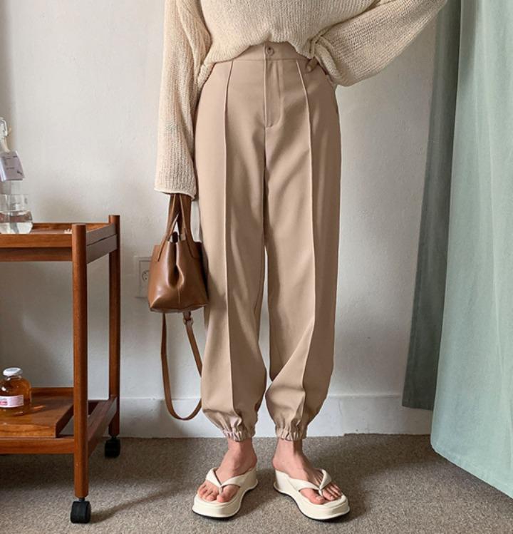 merongshop-[무료배송] 머스크 조거 밴딩 슬랙스 - 3 color♡韓國女裝褲