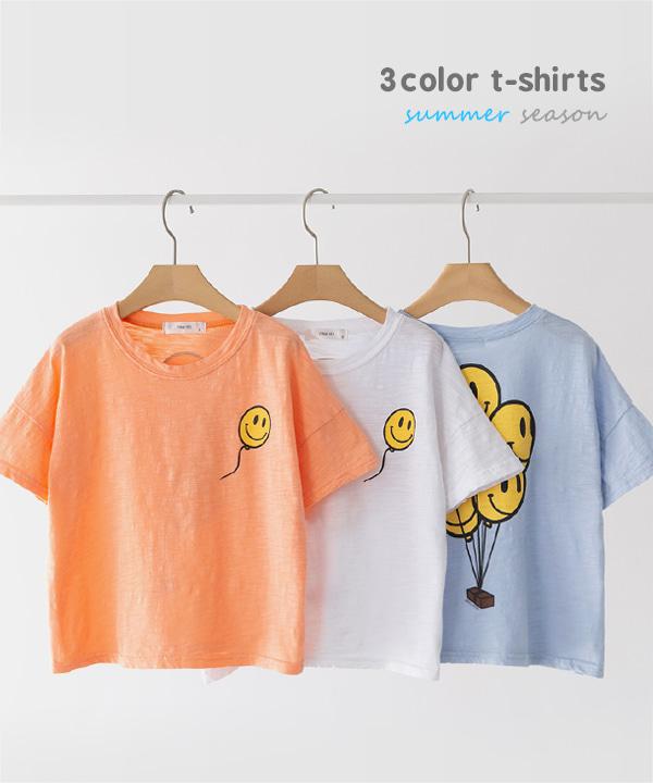 harukids-스마일벌룬티셔츠[티셔츠BDC262]♡韓國童裝上衣