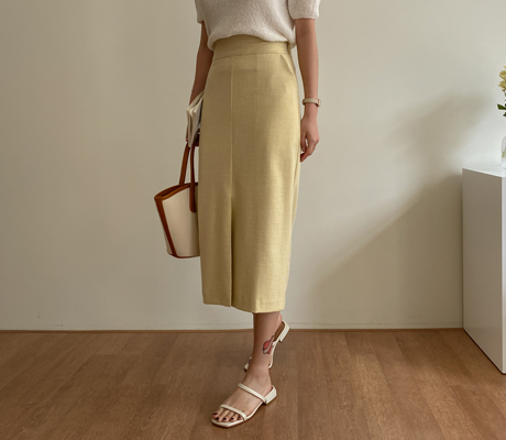 white-fox-[페미닌H라인체크스커트]♡韓國女裝裙