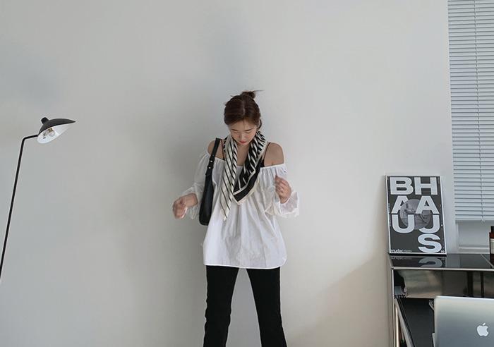 prostj-콜린 밴딩 블라우스 (3colors)♡韓國女裝上衣