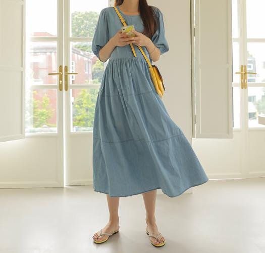 soim-[임부복*써머데님캉캉 임산부원피스]♡韓國孕婦裝連身裙