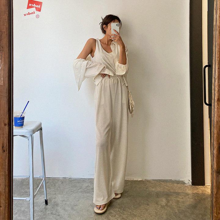 lagirl-썸머마나시와이드세트-set♡韓國女裝套裝