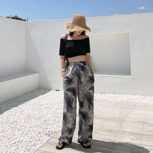 maybeach-줄라이 와이드 팬츠 (블랙)♡韓國女裝褲