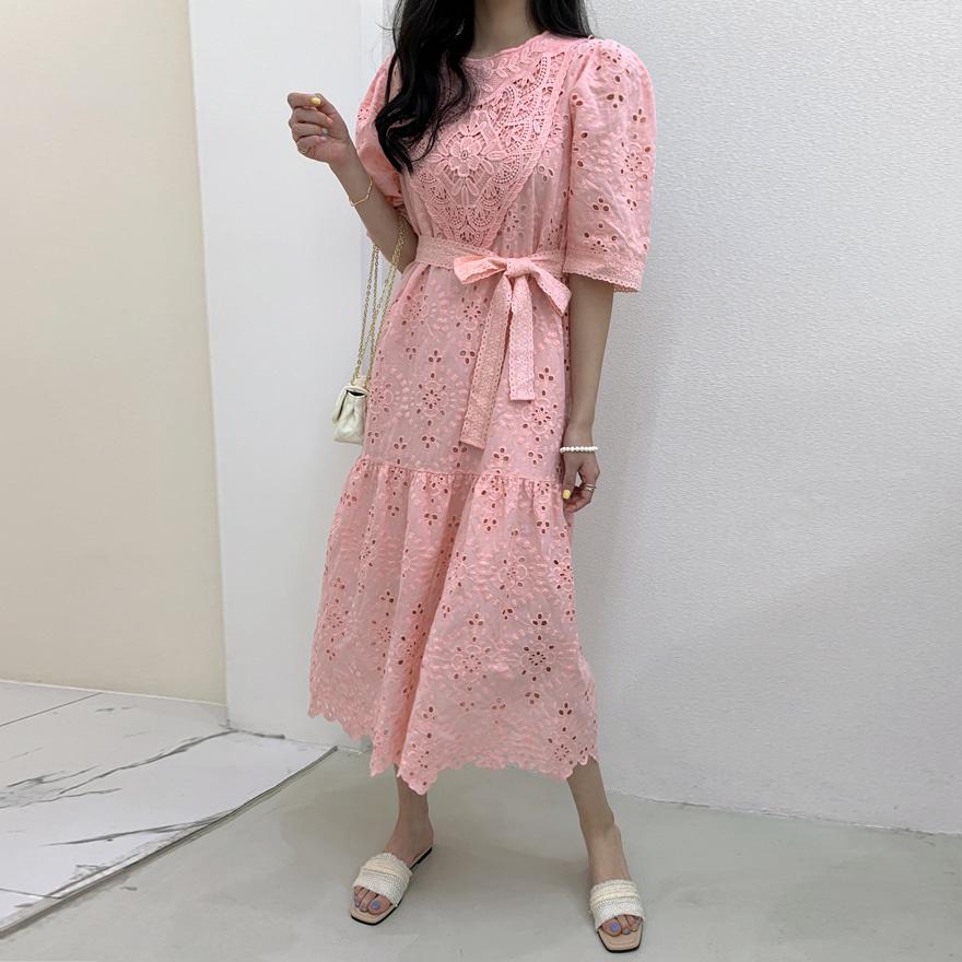 miamasvin-파레스 레이스 원피스♡韓國女裝連身裙