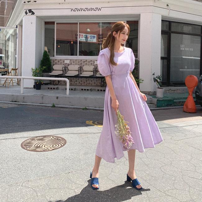 cherryville-[여신강림 퍼프롱원피스]♡韓國女裝連身裙