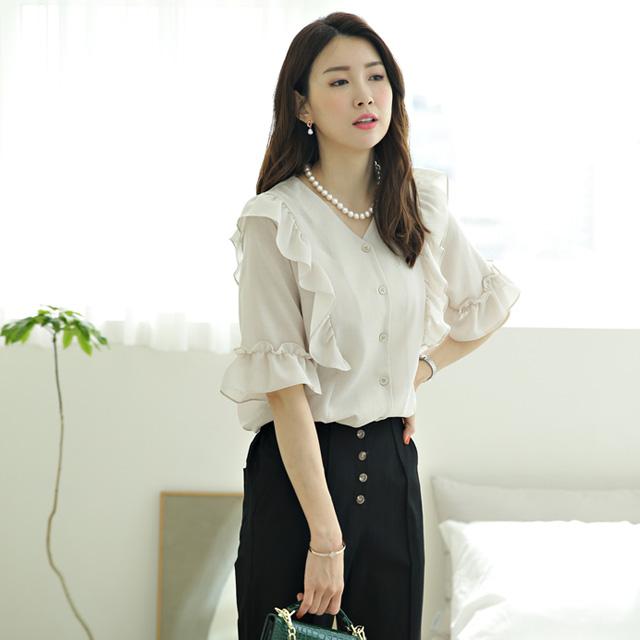 tiramisu-572양프릴블라우스♡韓國女裝上衣
