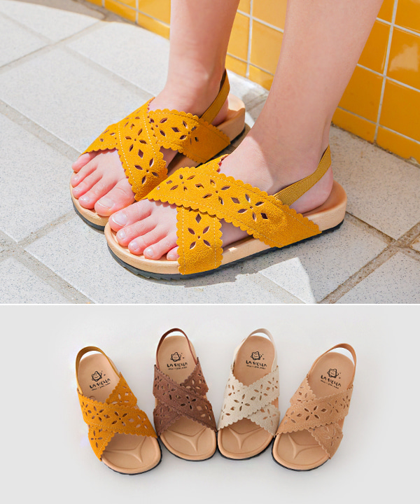 harukids-핑키펀칭샌들[신발BDDW59]♡韓國童裝鞋