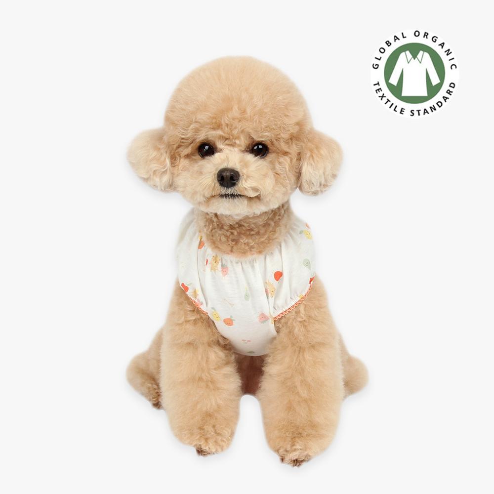 itsdog-[오가닉 프렌즈 퍼프 티셔츠 (코랄)]♡寵物衫