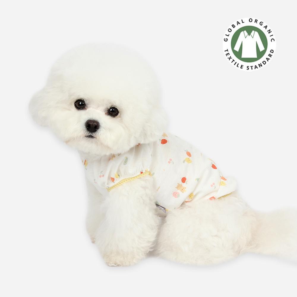 itsdog-[오가닉 프렌즈 퍼프 티셔츠 (옐로우)]♡寵物衫
