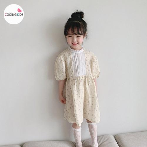 cooingkids-B하늘퍼프원피스♡韓國童裝連身裙