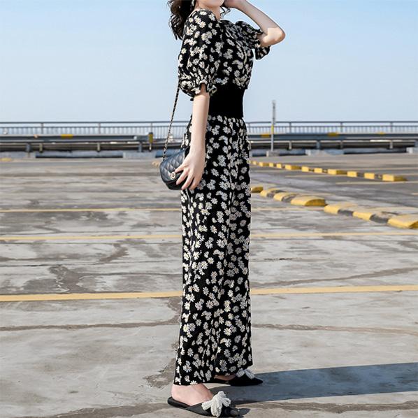 fashion-full-데이지 플라워 블라우스 & 팬츠 SET(TIME SALE 20%)♡韓國女裝套裝