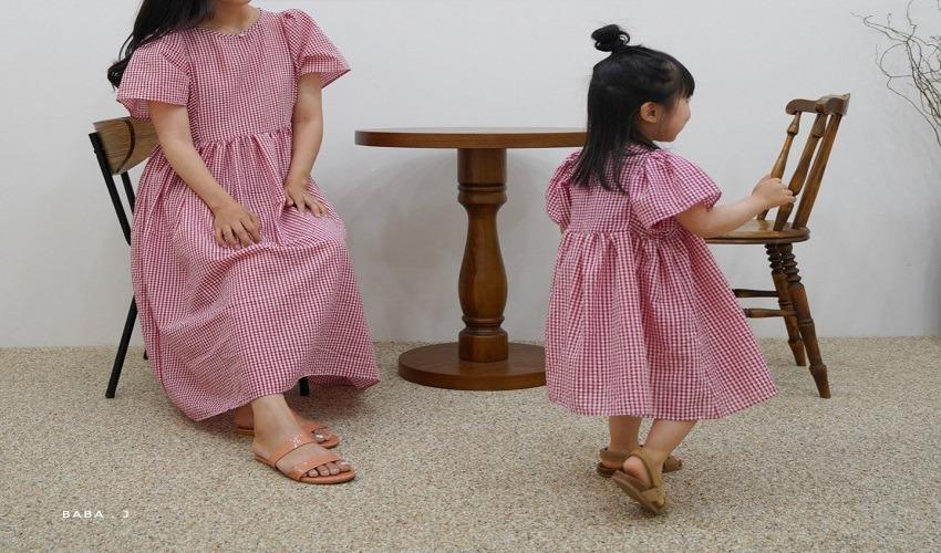 lovely2min-바바제이 기획 지지미나비원피스 ADULT맘커플 - lovely2min♡韓國童裝連身裙