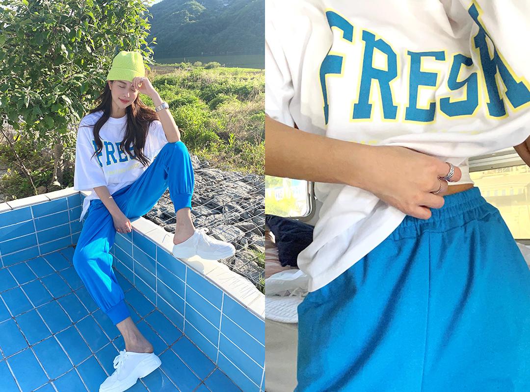 naning9-폴랜드 나염티조거트레이닝세트(C05)♡韓國女裝套裝