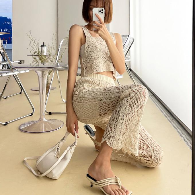 wingsmall-헤밀리(마름모뜨개투피스)♡韓國女裝套裝