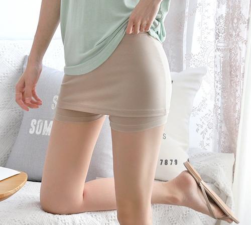 beige blanc-여름필수템 Y존 커버 속바지]♡韓國女裝褲