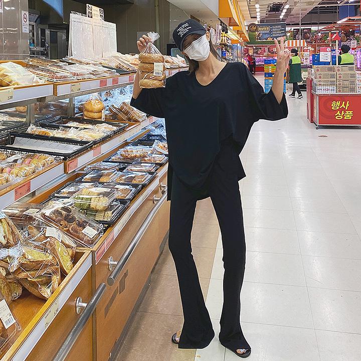 lagirl-여리내추럴밴딩팬츠세트-set♡韓國女裝套裝