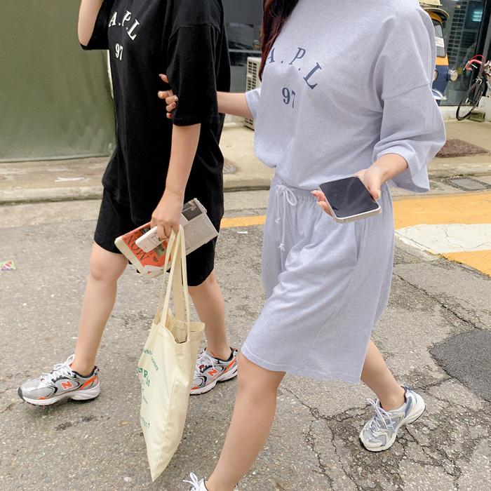 09women-[에이피엘 루즈핏 트레이닝 세트 59677]♡韓國女裝套裝