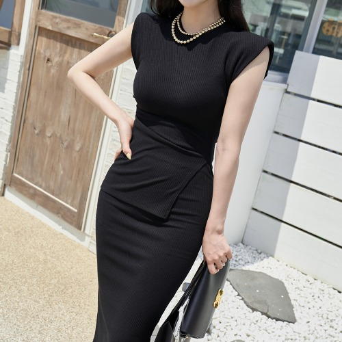 marlangrouge-골지슬릿미디투피스SET♡韓國女裝套裝
