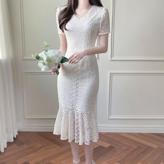 myfiona-베네핏 레이스 머메이드 원피스 a1552 - 러블리 로맨틱 1위 쇼핑몰 피오나♡韓國女裝連身裙