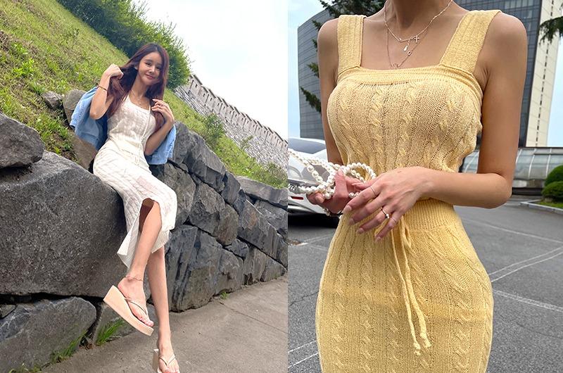 torishop-썸머쿨링 꽈베기니트SET ◈탑&스커트SET (3color)♡韓國女裝套裝