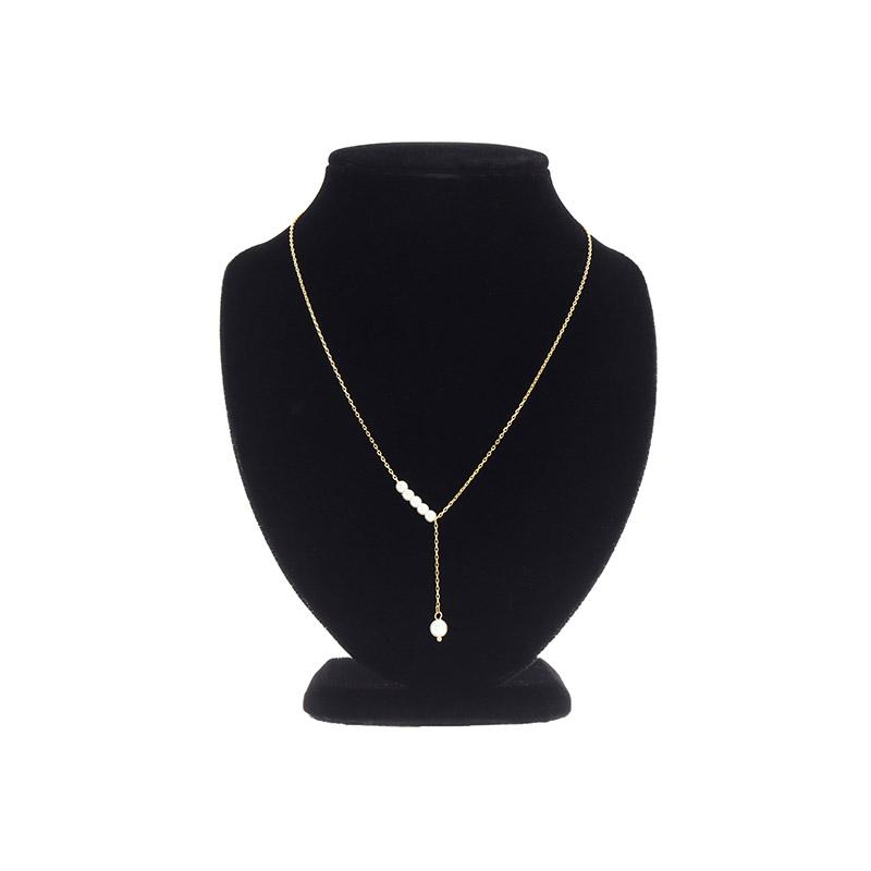 attrangs-ac4930 세련된 무드로 은은하게 포인트가 되어줄 진주 드롭 Y라인 네크리스 necklace♡韓國女裝飾品