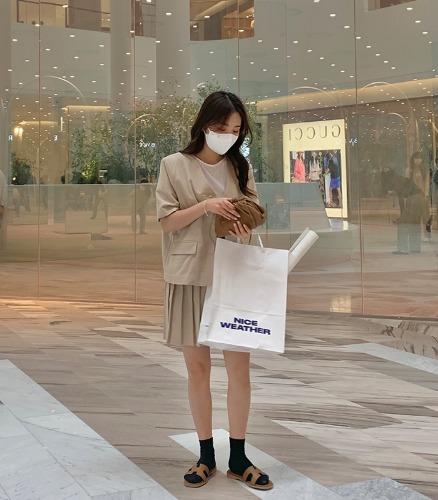 withyoon-플랜트 린넨 셋업 jacket♡韓國女裝外套
