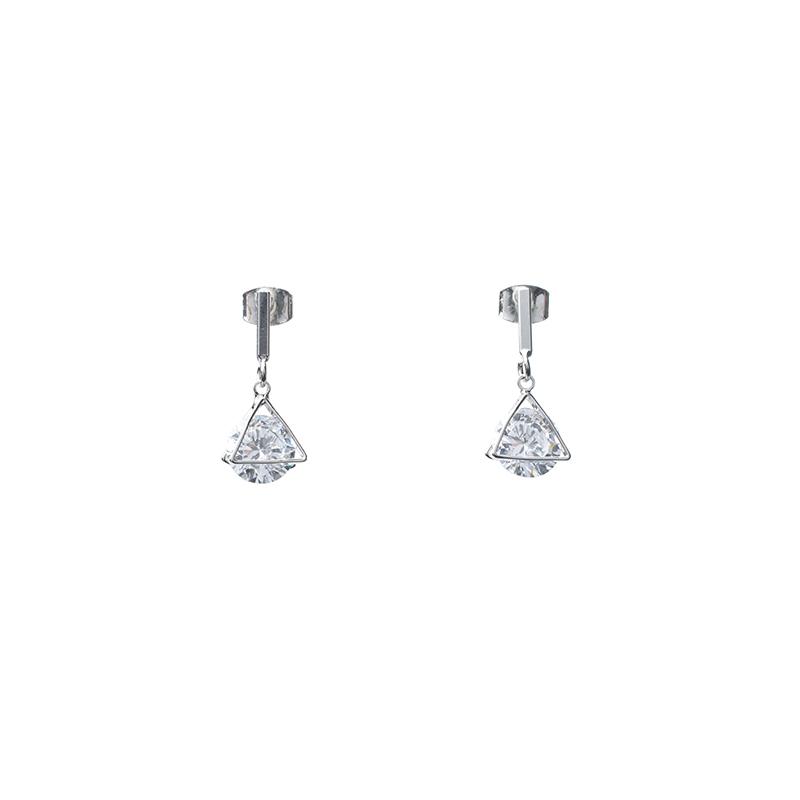 attrangs-ac2478 고급스러운 큐빅장식의 트라이앵글 이어링 earring♡韓國女裝飾品