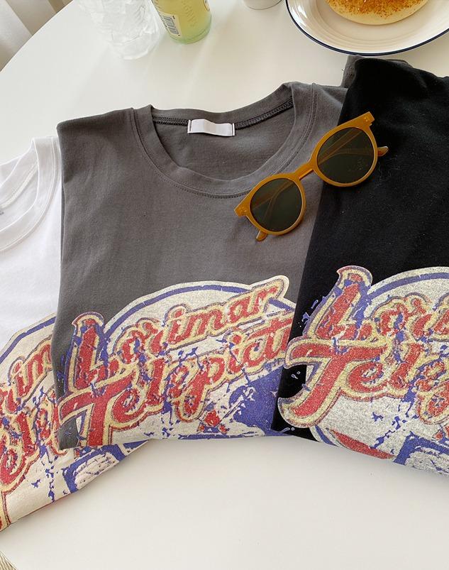 loloten-에어글 프린팅 티셔츠♡韓國女裝上衣