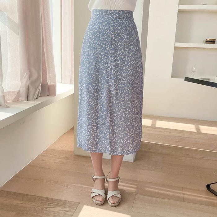 myfiona-블로밍 트임 밴드 스커트 a1488 - 러블리 로맨틱 1위 쇼핑몰 피오나♡韓國女裝裙