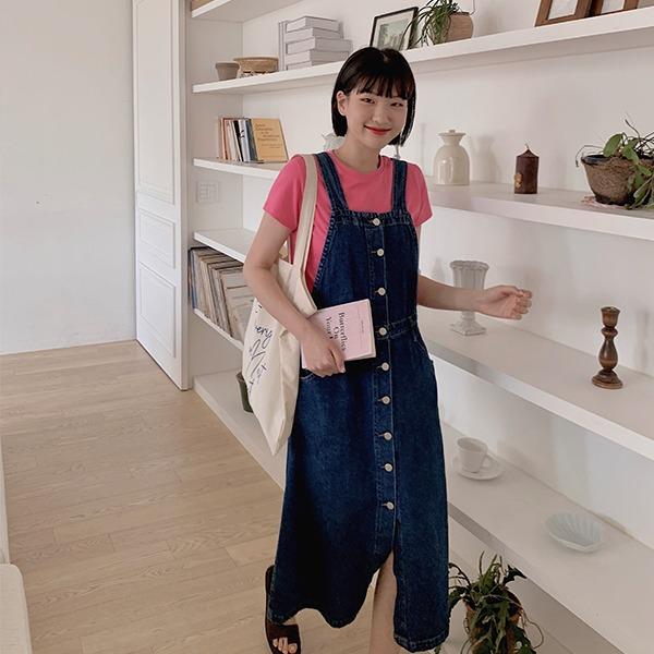 906studio-원더 데님오버롤♡韓國女裝連身裙
