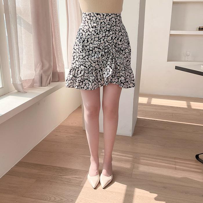 myfiona-해바라기 플라워 셔링 스커트 a1487 - 러블리 로맨틱 1위 쇼핑몰 피오나♡韓國女裝裙
