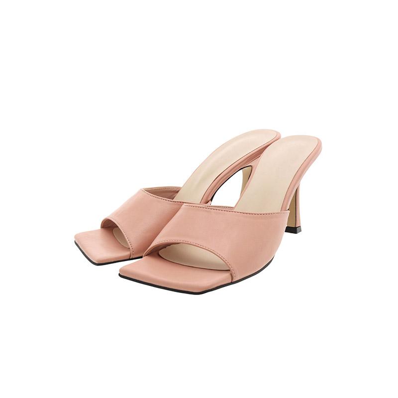 attrangs-sh2298 여성스럽고 세련된 스퀘어토 디자인의 미들굽 뮬힐 shoes♡韓國女裝鞋