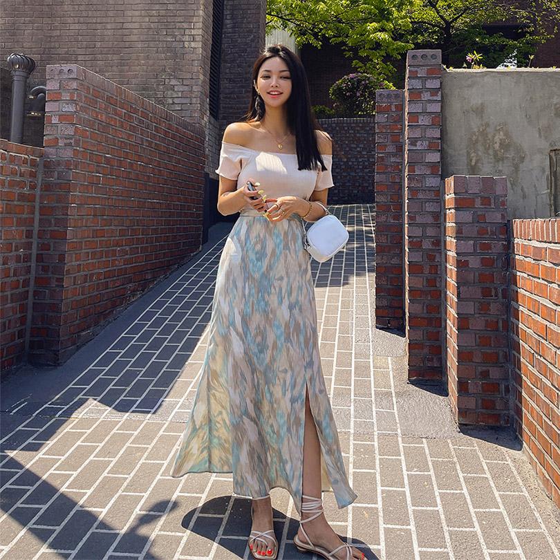 liphop-[오프숄더반팔티]♡韓國女裝上衣