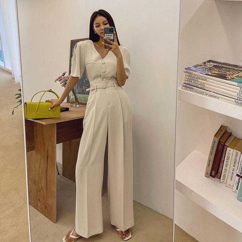 liphop-[퍼프자켓슬랙스세트]♡韓國女裝套裝