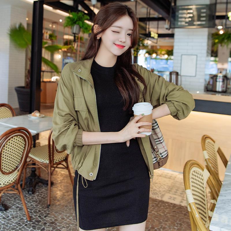 attrangs-jk1274 스타일리시한 빅 포켓 디자인의 반하이넥 루즈핏 야상점퍼 jacket♡韓國女裝外套