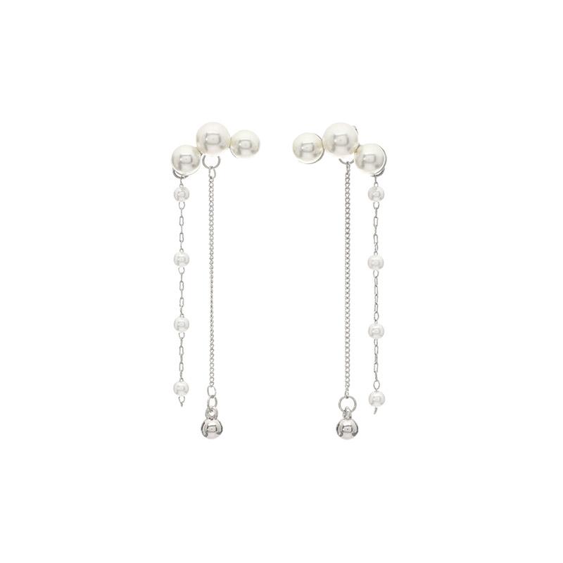attrangs-ac3955 유연한 쉐입으로 예쁘게 감싸지는 진주 드롭 이어링 earring♡韓國女裝飾品